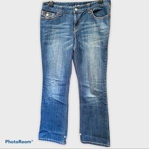 Sz 14 INC Boot Leg regular fit medium wash jeans